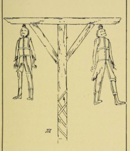 Hanging in chains, 1785